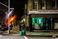 All Lonesome in the Fort. A late night journey into the heart of one of Brooklyn's most cherished neighborhoods Royalty Free Stock Photography