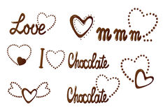 All about love and chocolate Stock Photography