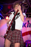 All-Mädchen AC/DC Cover-Band-Höllen Bell Lizenzfreie Stockbilder