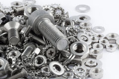 All for maintenance. A lot of different metal screws for maintenance activity Royalty Free Stock Photos