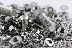 All for maintenance. A lot of different metal screws for maintenance activity Stock Photography