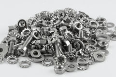 All for maintenance. A lot of different metal screws for maintenance activity Stock Images