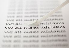 We all make mistakes Stock Photo