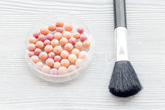 All for make-up. Cosmetics on the table in studio royalty free stock photography