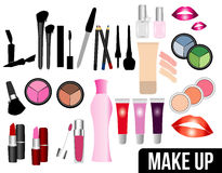 All makeup accessories Stock Images