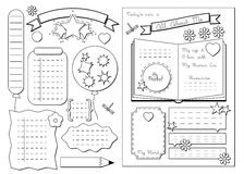 All about me. School Printable Stock Photo
