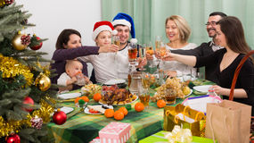 All members family Celebrating Christmas Royalty Free Stock Photography
