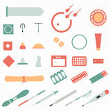 All modern types and contraception methods. Icons. Royalty Free Stock Photos