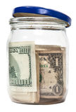 All the money in a moneybox isolated Royalty Free Stock Photo