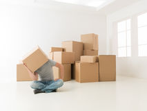 All this moving has made me tired Royalty Free Stock Photo