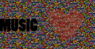 All music love background stock illustration