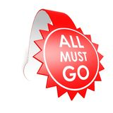 All must go star label Royalty Free Stock Photography