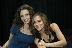 ALL MY CHILDREN. Alicia Minshew (Kendall) and Rebecca Budig (Greenlee) from ABCs All My Children Royalty Free Stock Images