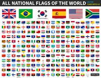Free All National Flags Of The World . Ratio 4 : 6 Design With Float Sticky Note Paper Style . Elements Vector Royalty Free Stock Photo - 130477505