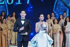 All Nations泰国2017年,最后的回合小姐 图库摄影