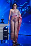 All Nations泰国2017年,最后的回合小姐 免版税库存照片