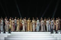 All Nations泰国2017年,最后的回合小姐 免版税库存图片