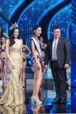 All Nations泰国2017年,最后的回合小姐 免版税图库摄影