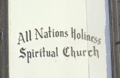 All Nations Holiness Spiritual Church in Denver Colorado Stock Photos
