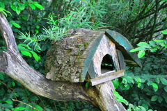 All natural birdhouse Royalty Free Stock Image