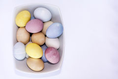 All Natural Dyed Easter Eggs Royalty Free Stock Image