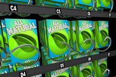 All Natural Products Ingredients Snack Vending Machine 3d Illustration stock illustration