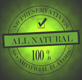 All Natural Stamp Royalty Free Stock Photo
