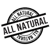 All natural stamp Royalty Free Stock Image
