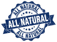 All natural stamp Stock Images