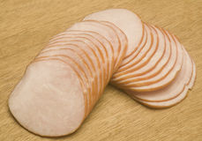 All natural uncured Canadian bacon. Center cut from pork loin no hormones no nitrates Royalty Free Stock Photo