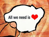 All we need is love illustration Stock Photography