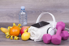 All that is needed for training and healthy life Stock Photos