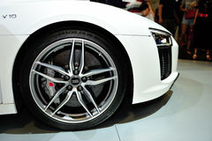 The all-new Audi A4 display during the Singapore Motorshow 2016 Stock Photography
