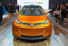 All new 2016 Chevrolet Bolt EV in the CIAS Stock Image