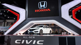 The All New CIVIC on display at The 37th Bangkok International Motor Show. BANGKOK - MARCH 22 : The All New CIVIC on display at The 37th Bangkok International Royalty Free Stock Images