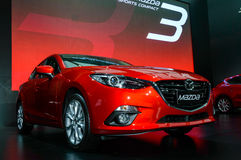 The All-New MAZDA 3 SKYACTIV Sports Compact. Royalty Free Stock Photos