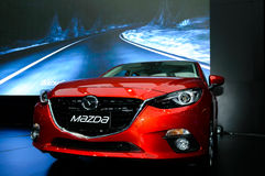 The All-New MAZDA 3 SKYACTIV Sports Compact. Stock Images