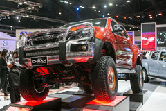 All new orange D-max car from Isuzu  at The 35th Bangkok International Motor Show, Concept Beauty in the Drive on March 27, 2014 i Stock Photo