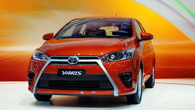 The all-new Toyota Yaris at the 30th International Royalty Free Stock Image