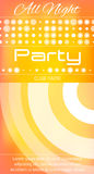 All night party flyer with the circles Stock Image