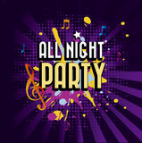 All night party Stock Images