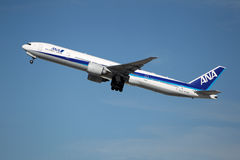 All Nippon Airways (ANA) Boeing 777-381ER Royalty Free Stock Photo