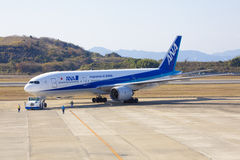 All Nippon Airways (ANA) flygplan Royaltyfria Bilder