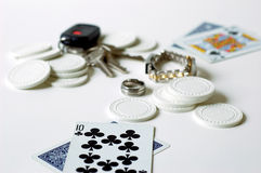 All or nothing. Gambling addiction concept Stock Photo