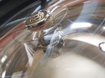 All or nothing. Blur of spiinning wheel roulette table Stock Photo