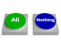 Free All Nothing Buttons Shows Total Or None Stock Photo - 64543010