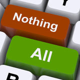 All Nothing Keys Mean Entire Or Zero Royalty Free Stock Photography