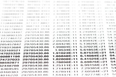 All numbers. Written on a sheet of paper with shallow dof Royalty Free Stock Photo