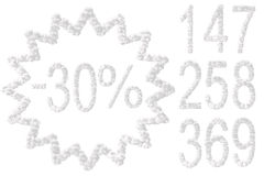 All numbers made from clouds Royalty Free Stock Photography