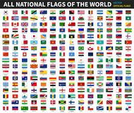 All official national flags of the world . Formal design . Vector.  Royalty Free Stock Image